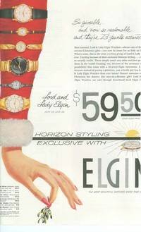 Advertisement For Elgin Watches Lord & Lady Elgin